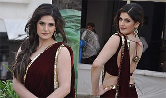 Zarine Khan at Gitanjali and Archana Kochhar Press Meet