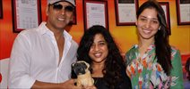 Akshay And Tammanah Snapped At Red FM With RJ Malishka