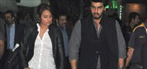 Sonakshi And Arjun At Airport
