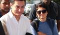 Aamir & Kiran Snapped At Domestic Airport