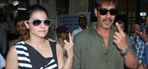 Ajay And Kajol Go For Voting