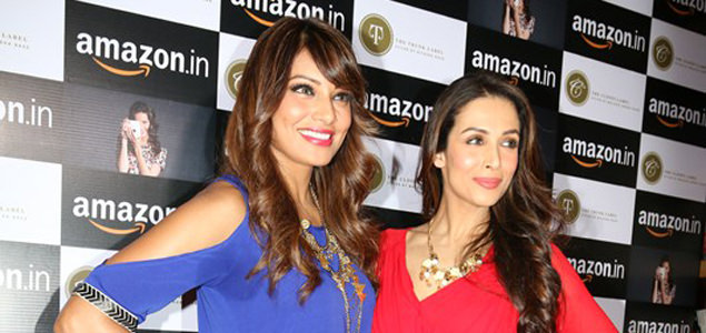 Bipasha and Malaika at Amazon.in and The Label Corp exclsuive partnership