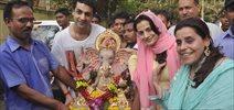 Amisha Patel's Ganesha Visarjan