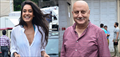 Lisa Haydon And Anupam Kher Snapped On The Sets Of Shaukeen