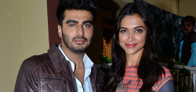 Deepika and Arjun promote Finding Fanny on serial sets