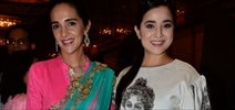 Tisca And Tara Sharma At Dressing Room Exhibititon