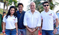 Cast of 'Ekkees Toppon Ki Salaami' at Cleanliness Drive in Mumbai