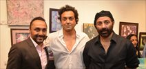 Sunny & Bobby Deol at Gateway School's annual charity art show