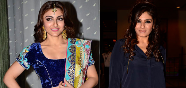 Soha Ali Khan and Raveena Tand...