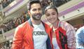 Varun And Alia Bhatt Promote HSKD At Korum Mall