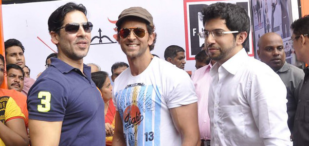 Hrithik Roshan inaugurates Dino Morea Fitness with Aditya Thackeray