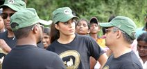 Jacqueline Fernandez at CJS & Sri Lanka Wildlife Conservation Society Walk