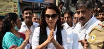 Juhi Chawla at cleanliness drive