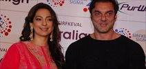 Juhi And Sohail Khan At Sirf Keval Clinic Launch