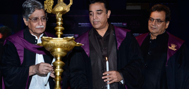 Kamal Hassan At Whistling Woods Convocation Ceremony