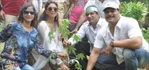 Kavita Kaushika And Daya Shetty At A Tree Plantation Drive