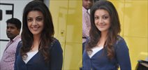Kajal Agarwal Snapped At Colgate Ad Shoot