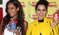 Kangana Ranuat And Lisa Haydon Promote Queen At Radio Mirchi Mumbai