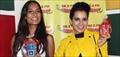 Kangana Ranuat And Lisa Haydon Promote Queen At Radio Mirchi Mumbai