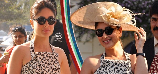 Kareena Kapoor Attends The Mid-Day Races