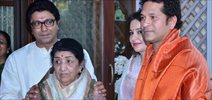 Lata Mangeshkar And Sachin Tendulkar Honoured By Raj Thackerey
