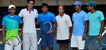 Leander Paes At Practise Session
