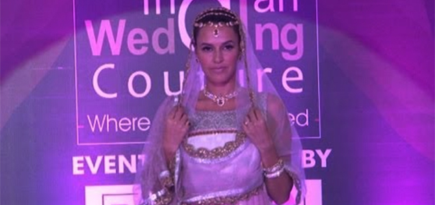 Neha Dhupia On Ramp For Indian Wedding Couture