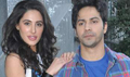 Nargis And Varun At Mithibai College