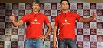 Milind And Randeep Go Red As They Promote Old Spice