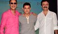 Aamir, Raju Hirani And Vidhu Vinod Chopra At PK 2nd Poster Launch