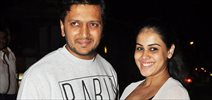 Ritesh Deshmukh and Genelia at Nido