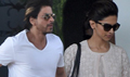 Shahrukh And Deepika Return From Kochadaiyaan Music Launch