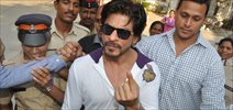 Shahrukh Khan Vote For India Elections 2014
