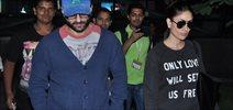 Saif & Kareena Return From Delhi Happy Ending Premiere