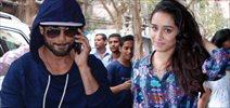 Shahid & Shraddha Snapped At RED FM Studio