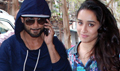 Shahid & Shraddha Snapped At RED FM Studio