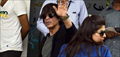 Shah Rukh Khan, Deepika Padukone snapped en-route for 'Happy New Year' promotions