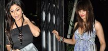 Shilpa And Bipasha Snapped At Nido