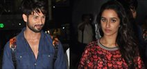 Shraddha and Shahid snapped at airport