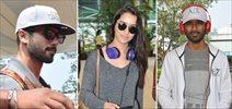 Shraddha Kapoor, Shahid Kapoor & Dhanush snapped at the airport
