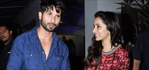 Shraddha and Shahid attend Haider screening