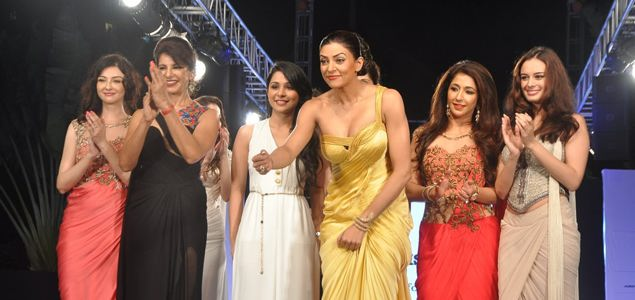 Sushmita Sen walks for Sonakshi Raaj at Save Girl Child show