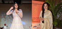 Sonakshi, Rekha, Sridevi at Tarun Tahiliani show for Sahachari Foundation