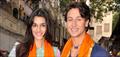 Tiger & Kirti snapped praying at Babulnath temple