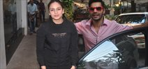 Varun Dhawan And Huma Quereshi Snapped At Sunny Sound