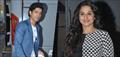 Vidya & Farhan snapped at Mehboob Studio