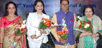 Hema Malini, Simi Grewal At GR8 Yash Chopra Memorial Awards Meet