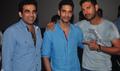 Yuvraj Singh  & Zaheer Khan At Ungli Screening With Angad Bedi
