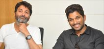 Allu Arjun and Trivikram Interview Photos
