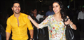 Varun Dhawan & Shraddha Kapoor return after promoting 'ABCD - Any Body Can Dance - 2' in Ahmedabad